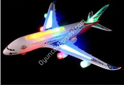 Büyük Boy Işıklı Müzikli Oyuncak Uçak ,Toptan Satış
