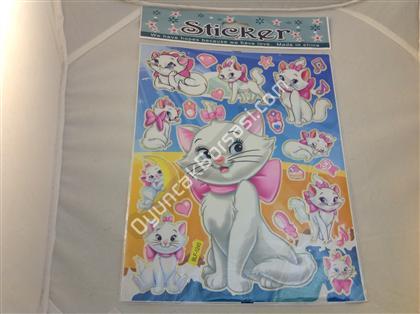 Kedi maria a4 toptan sticker ,Toptan Satış
