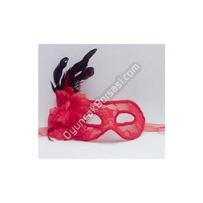 Toptan parti maskeleri kırmızı güllü maske ,Toptan Satış