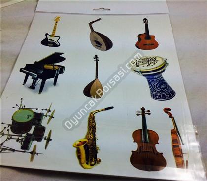Müzik aletleri sticker ,Toptan Satış