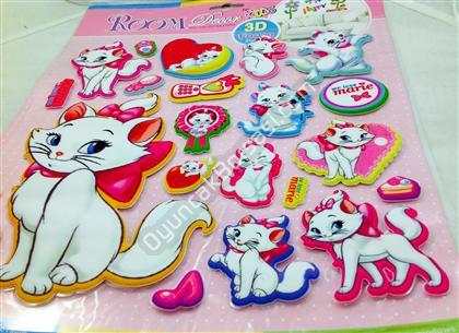 Toptan 3 boyutlu sticker kedi maria modeli ,Toptan Satış