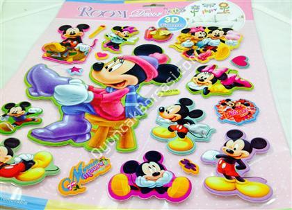 Toptan 3 boyutlu kabartma sticker mickey mouse ,Toptan Satış