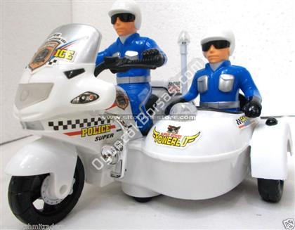Polis Motorsikleti sepetli sesli müzikli ,Toptan Satış