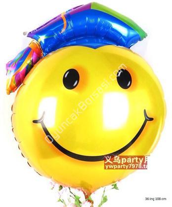 Toptan folyo balon jumbo 36 inç 108 cm gülen yüz ,Toptan Satış