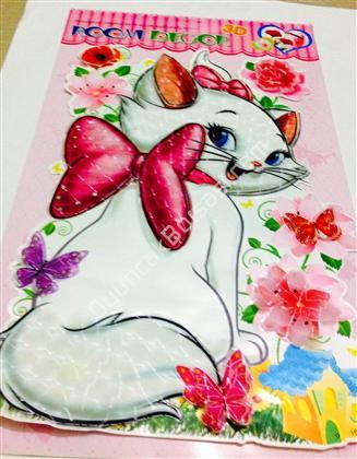 kedi maria 3 boyutlu sticker ,Toptan Satış