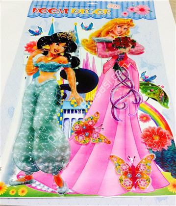 prenses model 3 boyutlu sticker ,Toptan Satış