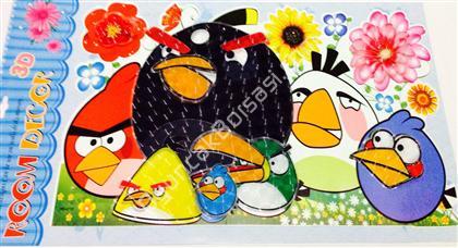 sinirli kuşlar model 3 boyutlu sticker ,Toptan Satış