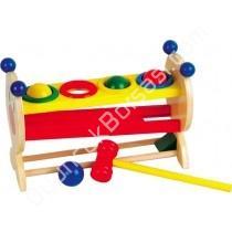 Zeka oyuncakları 4 Renkli Top ve Ahşap Çekiç ,Toptan Satış