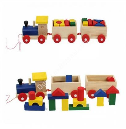 Ahşap Blok Tren ,Toptan Satış