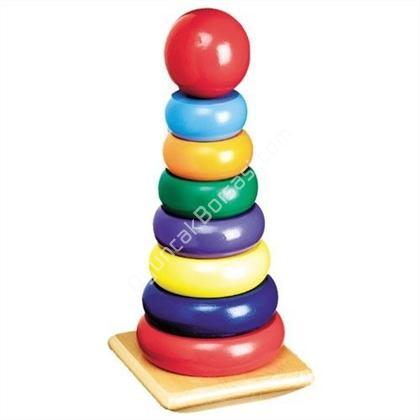 ahşap oyuncaklar çubuklu Ahşap Gökkuşağı Halkası ,Toptan Satış