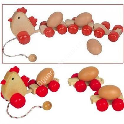 ahşap oyuncaklar Yumurtalı Tren Tavuk ,Toptan Satış