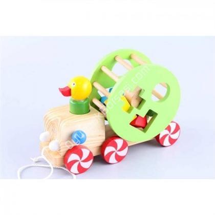 ahşap oyuncaklar tak çıkar Araba Süren Ördek ,Toptan Satış
