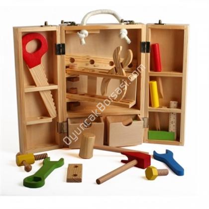ahşap oyuncaklar ahşap marangoz çantası ,Toptan Satış