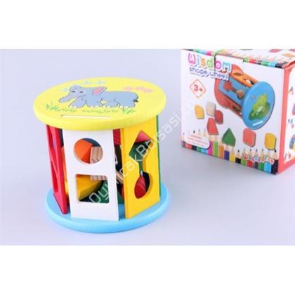 ahşap oyuncaklar Ahşap Geometrik Şekilli Tekerlek ,Toptan Satış