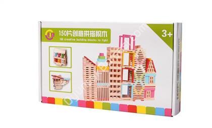 Şehir Blocs 150 parça ahşap inşaat seti ,Toptan Satış