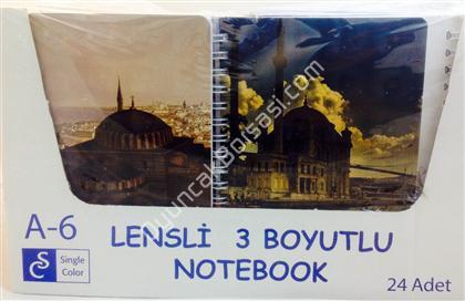 İstanbul resimli A6 boyutunda not defteri ,Toptan Satış