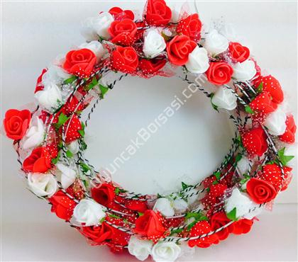 çiçek tacı kırmızı beyaz gül model ,Toptan Satış