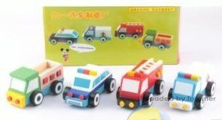 toptan ahşap oyuncaklar 4 lü ahşap araba seti ,Toptan Satış