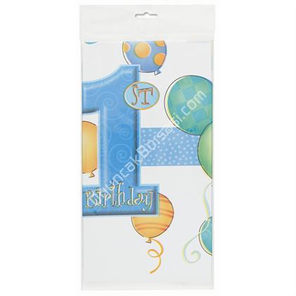 1 yaş günü Doğum Günü Masa Örtüsü erkek model ,Toptan Satış