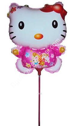 çubuklu folyo balon hello kity ,Toptan Satış