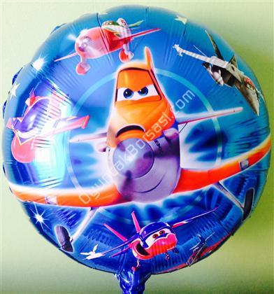 Uçaklar folyo balon yuvarlak model ,Toptan Satış