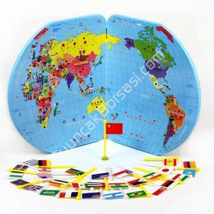 ahşap dünya haritası ve ülke bilgileri ,Toptan Satış