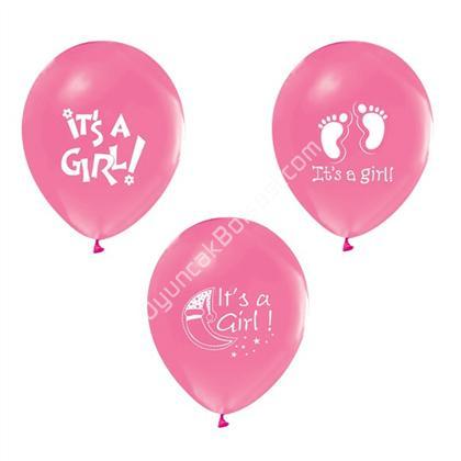 Toptan bask�l� balon its a girl model ,Toptan Sat��