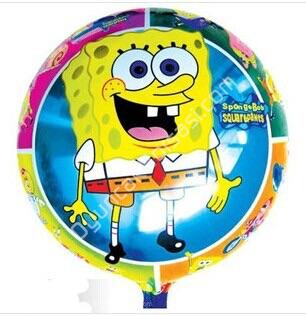 Toptan folyo balon yuvarlak Sünger bob ,Toptan Satış