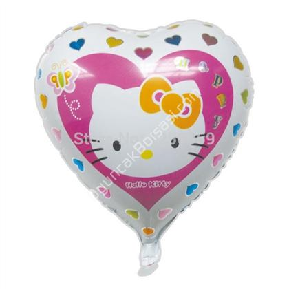 Toptan Folyo balon Hello kity kalp büyük ,Toptan Satış