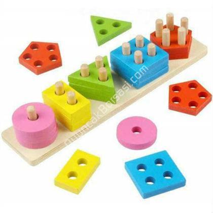 toptan ahşap zeka oyuncağı 4 lü geometrik şekiller ,Toptan Satış