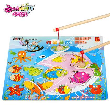mıknatıslı ahşap balık tutma oyuncağı kare ,Toptan Satış
