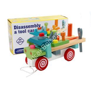 ahşap kamyon sökülüp takmalı oyuncak ,Toptan Satış