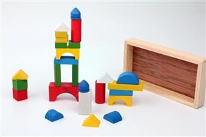 toptan ah�ap oyuncak 30 par�a mini renkli blok ,Toptan Sat��