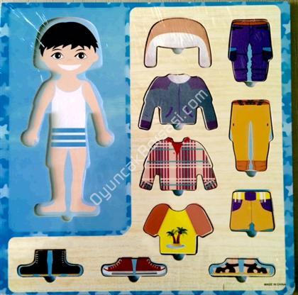 ahşap giydirme oyuncağı erkek model ,Toptan Satış