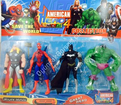 toptan oyuncak 4lü american hero oyuncak seti ,Toptan Satış