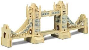 toptan ah�ap puzzle tower bridge G-P055 ,Toptan Sat��