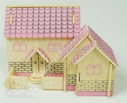 toptan ahşap oyuncak ev puzzle küçük G-P148 ,Toptan Satış