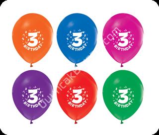 toptan baskılı balon 3 yaş yazılı ,Toptan Satış