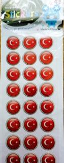 toptan stickeer Türk bayrak damla stickeer ,Toptan Satış