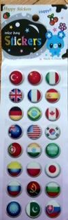 toptan stickeer yabancı bayrak damla stickeer ,Toptan Satış