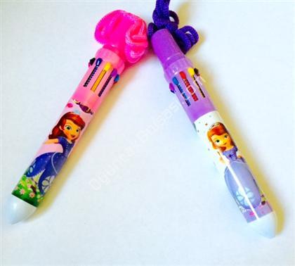 Sofia 10 renk tükenmez kalem ,Toptan Satış