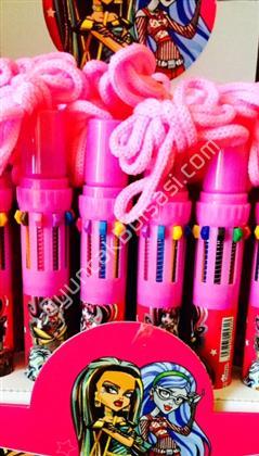 Monster High 10 renk tükenmez kalem ,Toptan Satış