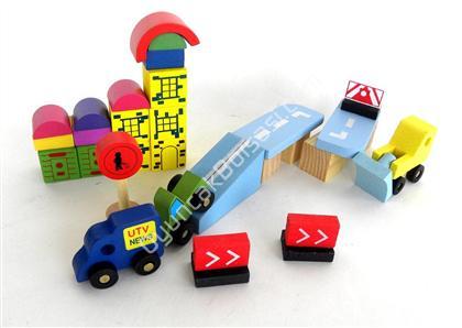 ahşap oyuncak toptan satışı 30 parça renkli blok ,Toptan Satış