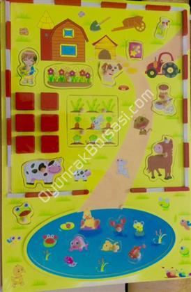 toptan ahşap oyuncak satışı çiftlik puzzle bulmaca ,Toptan Satış