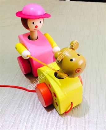 toptan ahşap oyuncak kovboy ve atı ,Toptan Satış