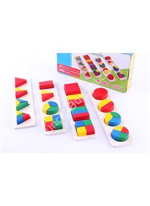 toptan ahşap oyuncaklar 4 lü geometrik bloklar ,Toptan Satış