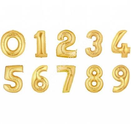 toptan rakamlı folyo balon altın renk ,Toptan Satış