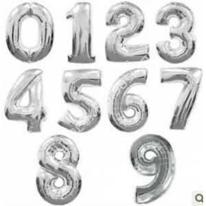 toptan rakamlı folyo balon gümüş renk ,Toptan Satış