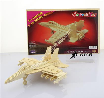 Toptan 3 d ahşap maket F 18 savaş uçağı ,Toptan Satış