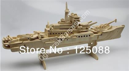 toptan ahşap 3d maket savaş gemisi model G-P047 ,Toptan Satış